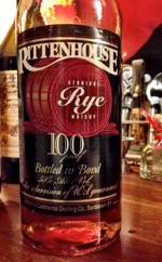 Rittenhouse 100-proof rye whiskey