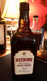 A bottle of Cherry Heering liqueur