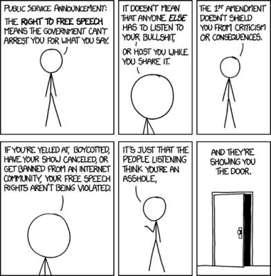 Freedom of Speech by Randall Munroe