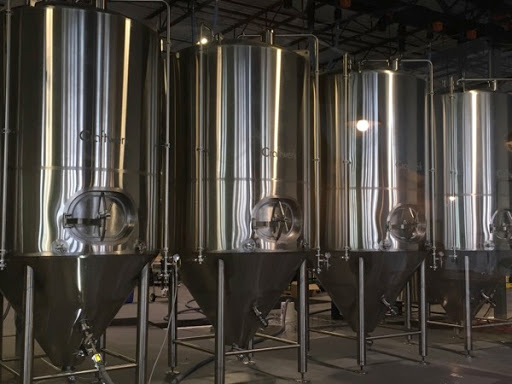 Solace Brewing Company's brite tanks