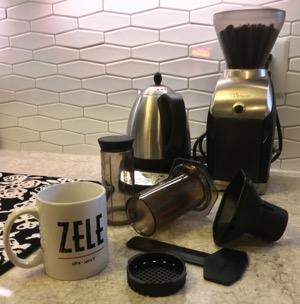AeroPress coffee station